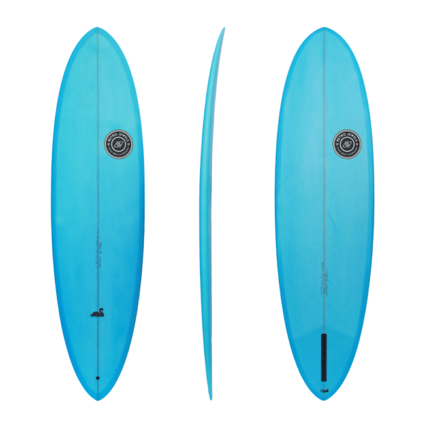 Retro Black Swan TwinsBros Surfboards